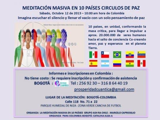 meditación masiva Bogota