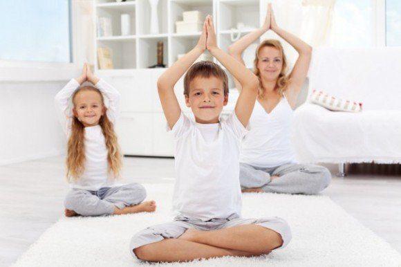 niños yoga