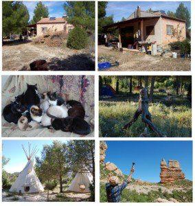 Casa y campamento índio