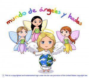logo de mundo de ángeles y hadas
