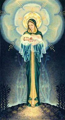 madre María con el niño Jesús