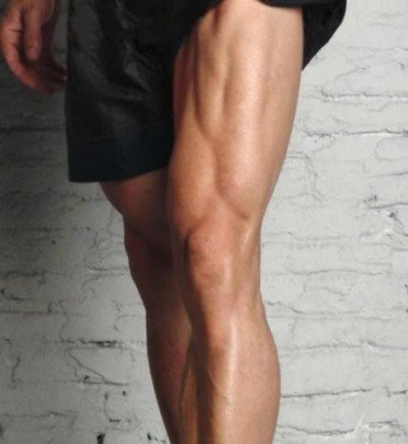 pierna musculosa