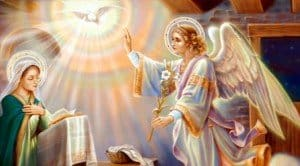 Arcangel sant gabriel y la madre maria