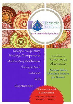 cartel terapias Esencia de Alquimia