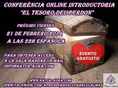 """Conferencia introductoria online EL TESORO DEL PERDON"""" Evento gratuito ~21 de febrero"""