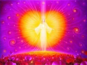 corazón de energía de amor angelical