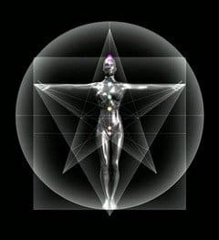 Geometria Sagrada figura femenina proporciones divinas aurea energia