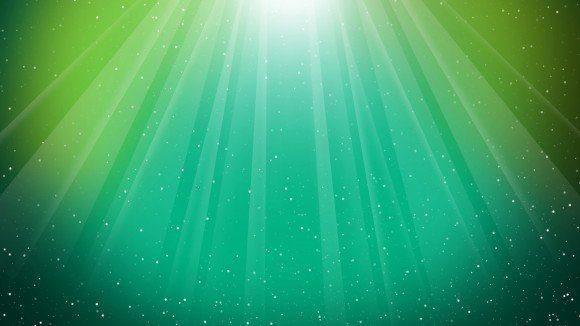 aurora-verde- rayos de sol