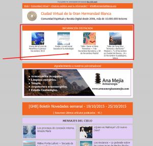 Zona superior newsletter semanal