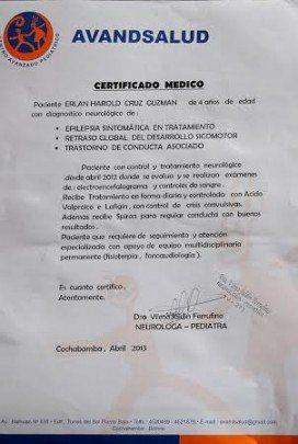 Solicitud de ayuda medica para Erlan  niño de 5 años en Bolivia -2