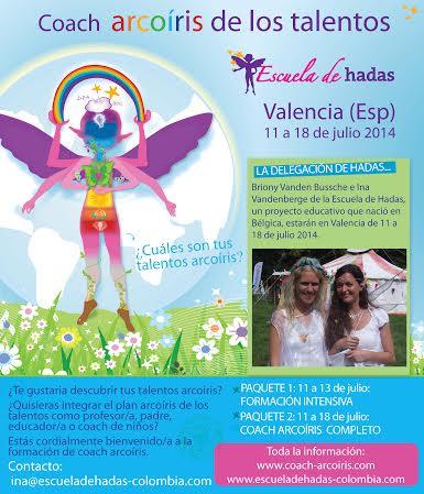 Coach Arcoíris de los talentos- Formación en Valencia- España de 11 a 18 de julio 2014