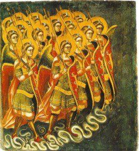 ángeles con lanzas