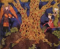 angeles y árbol