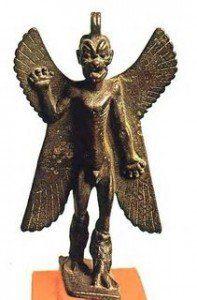 escultura de piedra angel