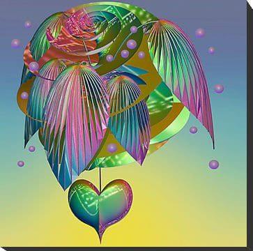 ángeles alas corazón caracol