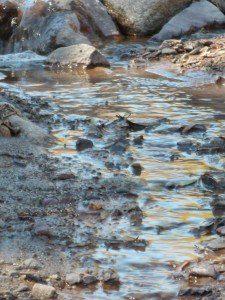 tierra y rio de agua