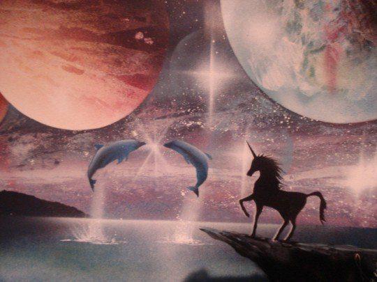 unicornios y delfines