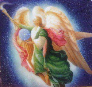 AA Rafael - Angel de la sanación con alas y bola en la mano derecha