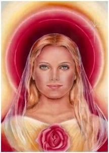 Maria Magdalena con aura rosa