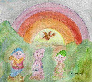 Enanitos con arco iris