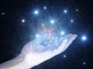 mano con estrellas