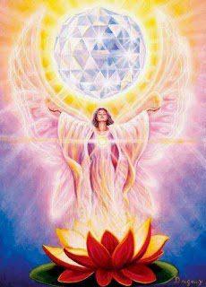 loto ser luz con mandala de la vida en la manos