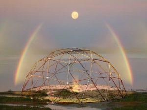 Dimension Arcoiris1- cúpula- geometria sagrada