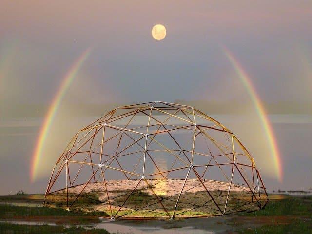 Dimension Arcoiris1 cúpula geometria sagrada La Geometría Sagrada De Las Ciudades De Luz Domos O Cúpulas Geodésicas
