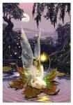 angel con luz una dorada