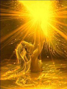 la luz del alma- rayos dorados