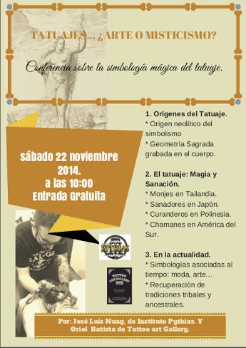 Conferencia Gratuita sobre la Simbología Mágica de los tatuajes