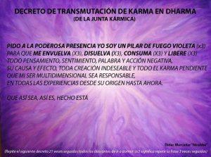 decreto transmutación karma en kharm