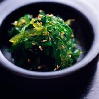 plato con algas