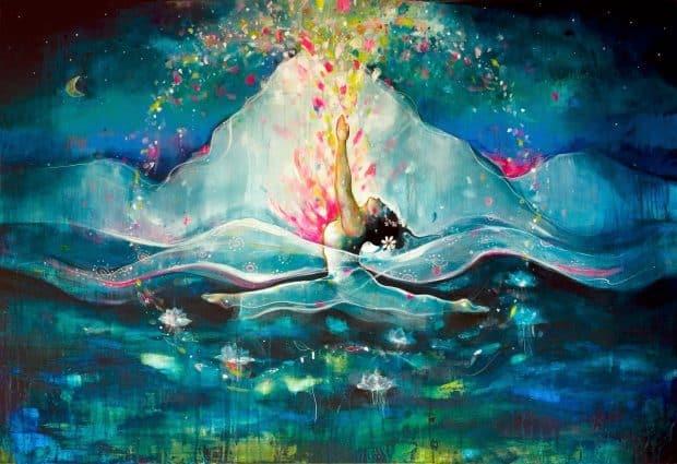 hermandadblanca energia femenina yoga pintura hanumanasana 620×425.jpg - Elevando y equilibrando la energía femenina - hermandadblanca.org
