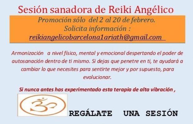 Sesión sanadora de Reiki Angélico
