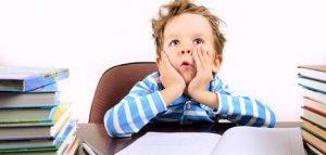 niño estresado estudio