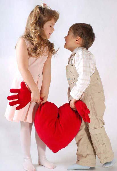 niños con corazon
