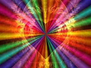 Energía_del_amor_corazón con los colores de todos los chakras