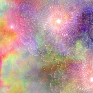 humanidad - energía rosa, violeta y verde