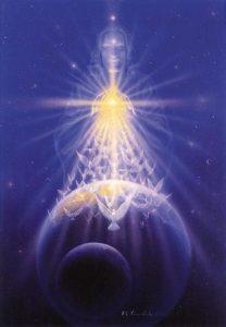 Jesús enviando energía a la tierra