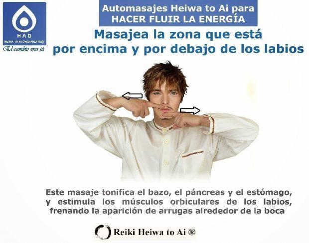 Reiki Heiwa to Ai  masaje debajo del labio