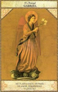Arcangel gabriel. Tarot asngelico
