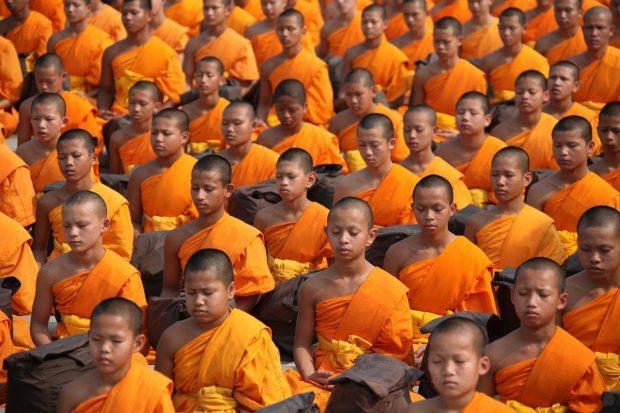 meditación monjes