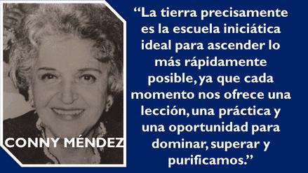Conny Méndez tuvo una vida de una iluminada; fue un personaje que dejó huella, siendo mujer realizó hazañas que ninguna otra había hecho como por ejemplo: Fue la primera mujer en Venezuela en ser chófer, cantante, guitarrista y en tener su propia revista.