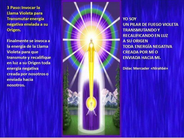 Enviar Llama Violeta para Transmutar energía negativa enviada a su Origen