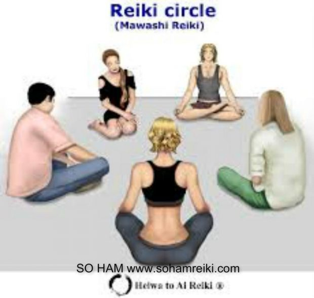 REIKI HEIWA TO AI  - grupo en círculo
