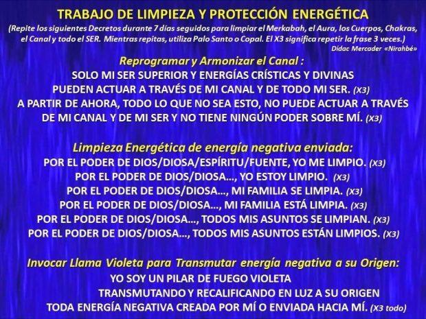 TRABAJO DE LIMPIEZA Y PROTECCIÓN ENERGÉTICA