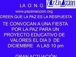 Fiesta por la PAZ en Granada, España – 3 de diciembre 2015