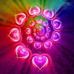 rueda de corazones -rueda de energía - Paz en la tierra
