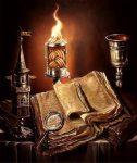 hechizos -copa y libro